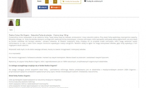 Opisy produktów, artykuły sponsorowane